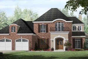 European Exterior - Front Elevation Plan #21-259