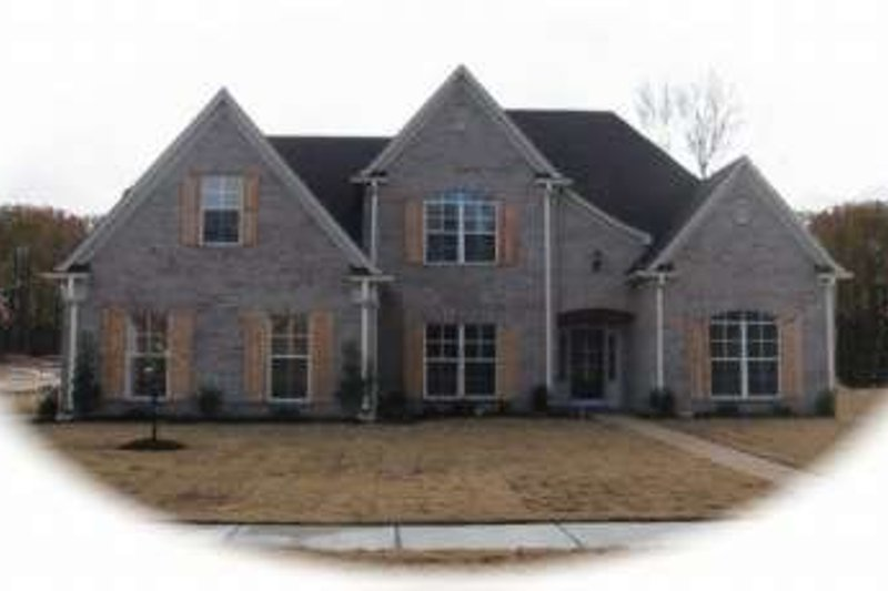 European Style House Plan - 4 Beds 3 Baths 2656 Sq/Ft Plan #81-1082 Exterior - Front Elevation