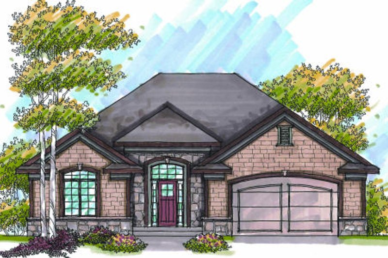 Bungalow Exterior - Front Elevation Plan #70-946