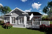 Ranch Style House Plan - 2 Beds 2 Baths 1827 Sq/Ft Plan #70-1416 Exterior - Rear Elevation