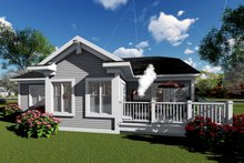 Architectural House Design - Ranch Exterior - Rear Elevation Plan #70-1416