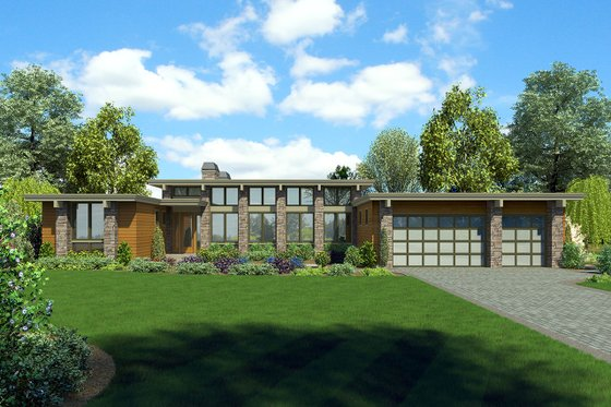 Ranch Exterior - Front Elevation Plan #48-933