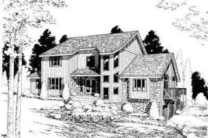 Modern Exterior - Front Elevation Plan #75-125