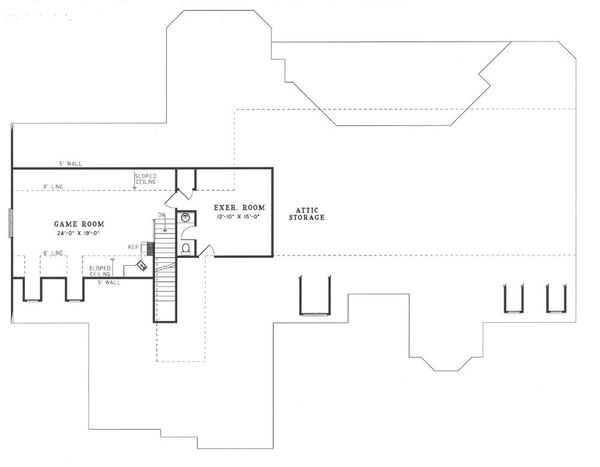 European Floor Plan - Upper Floor Plan Plan #17-240