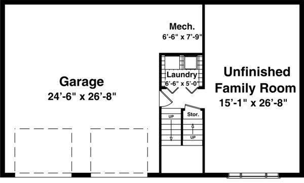 Traditional Floor Plan - Lower Floor Plan Plan #56-117