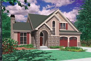 Traditional Exterior - Front Elevation Plan #48-172