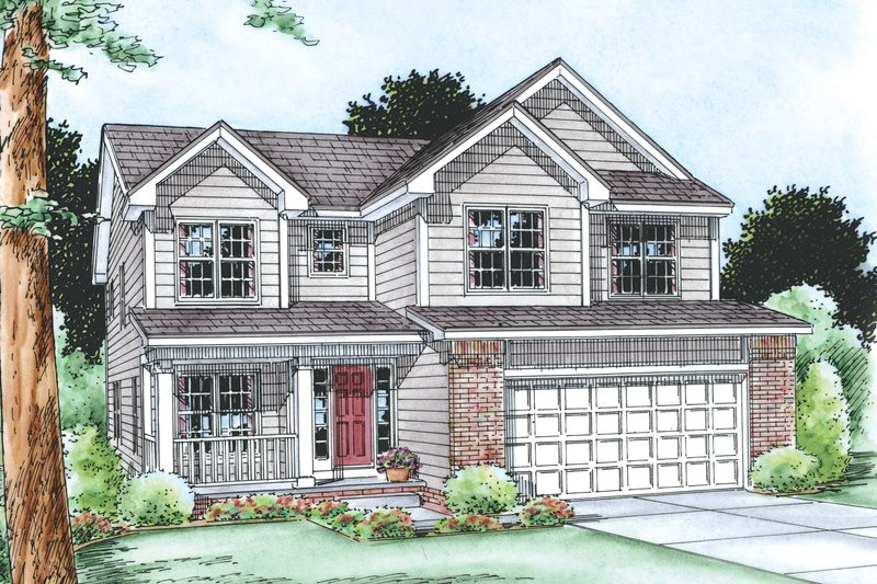 Traditional Exterior - Front Elevation Plan #20-2196 - Houseplans.com