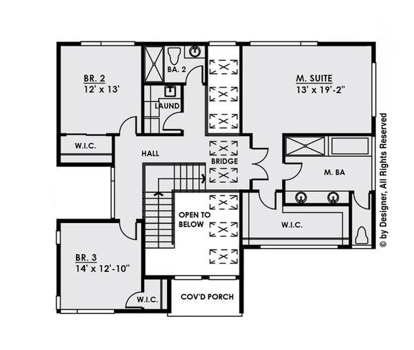 Contemporary Floor Plan - Upper Floor Plan #1066-32