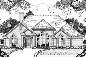 Traditional Exterior - Front Elevation Plan #42-127