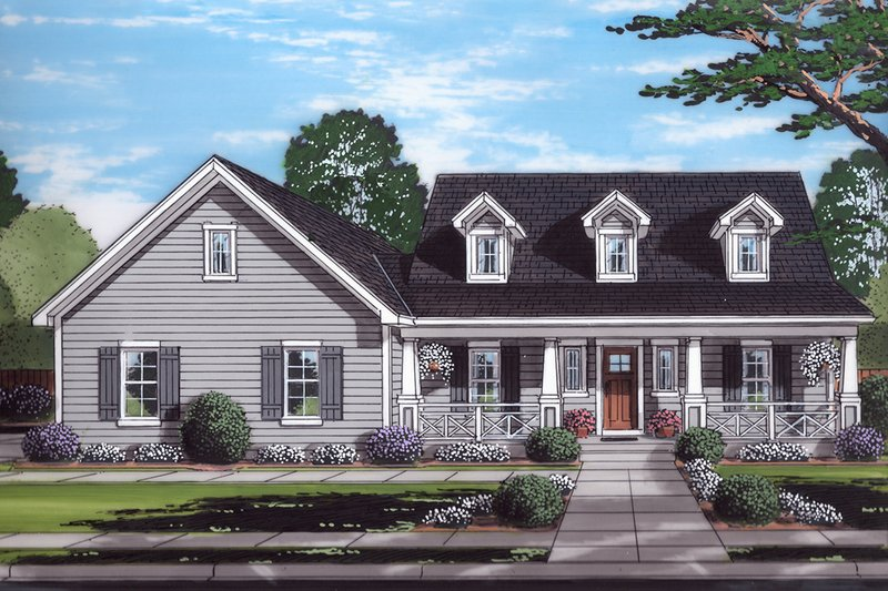 Farmhouse Style House Plan - 3 Beds 2.5 Baths 1790 Sq/Ft Plan #46-886 Exterior - Front Elevation