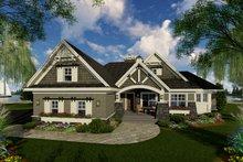 Dream House Plan - Craftsman Exterior - Front Elevation Plan #51-552