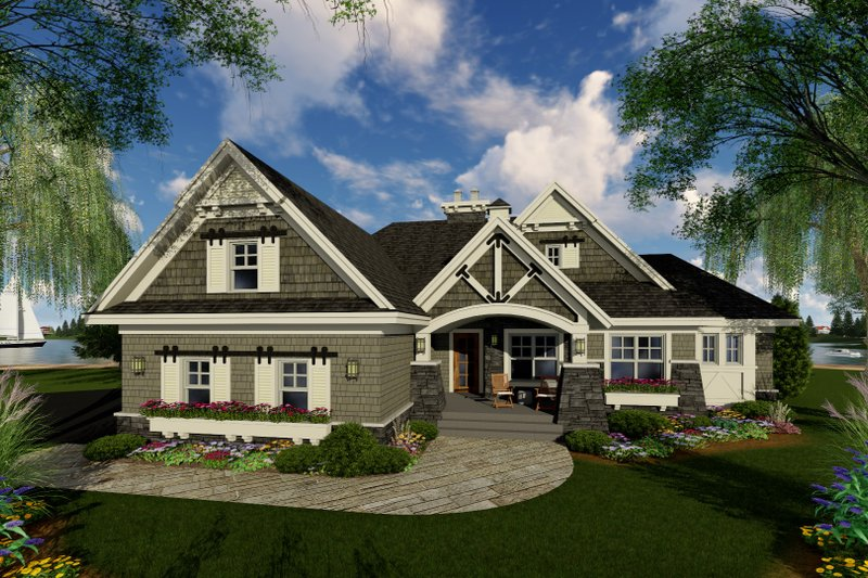 Craftsman Exterior - Front Elevation Plan #51-552