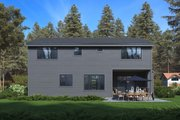 Modern Style House Plan - 3 Beds 4 Baths 3542 Sq/Ft Plan #1066-64 Exterior - Rear Elevation