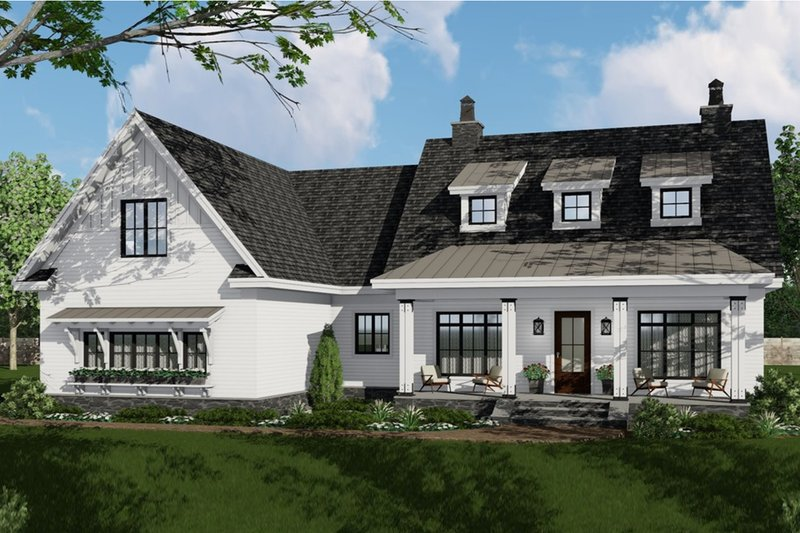Home Plan - Farmhouse Exterior - Front Elevation Plan #51-1141