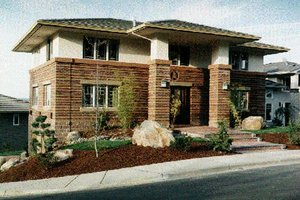 Prairie Exterior - Front Elevation Plan #509-29