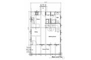 Log Style House Plan - 1 Beds 1.5 Baths 1695 Sq/Ft Plan #451-1 Floor Plan - Main Floor Plan