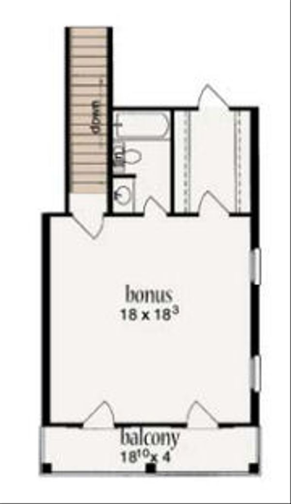 Mediterranean Floor Plan - Other Floor Plan Plan #36-461