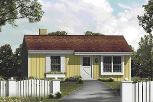 Farmhouse Exterior - Front Elevation Plan #57-410