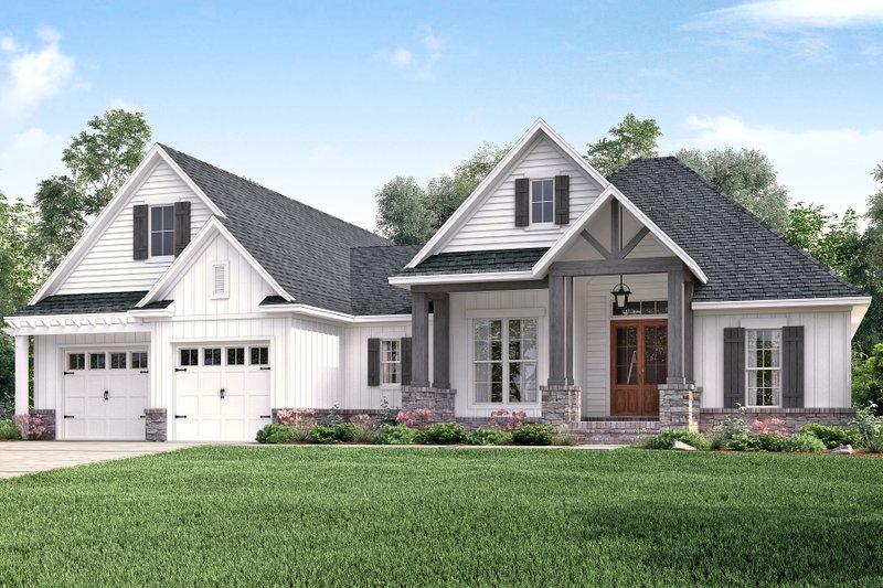 Craftsman Exterior - Front Elevation Plan #430-157