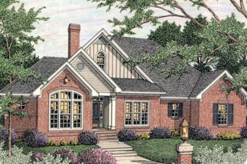 Traditional Exterior - Front Elevation Plan #406-295 - Houseplans.com