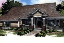 Country Exterior - Front Elevation Plan #320-462