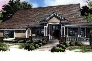 Architectural House Design - Country Exterior - Front Elevation Plan #320-462