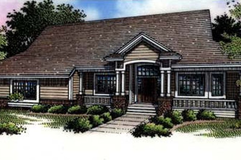 Dream House Plan - Country Exterior - Front Elevation Plan #320-462