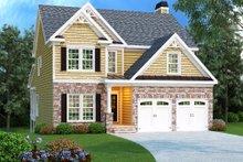 Dream House Plan - Craftsman Exterior - Front Elevation Plan #419-175