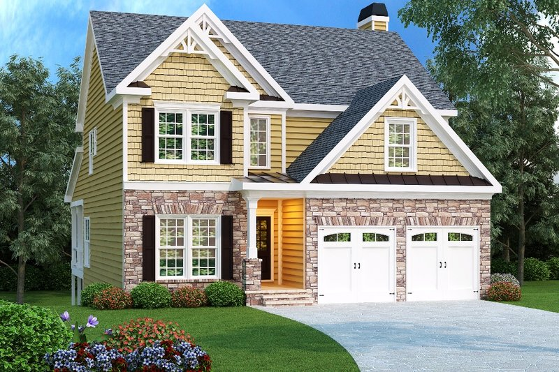 Architectural House Design - Craftsman Exterior - Front Elevation Plan #419-175