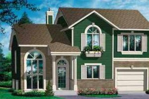 European Exterior - Front Elevation Plan #25-3010