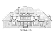 Dream House Plan - Traditional Exterior - Rear Elevation Plan #1054-57