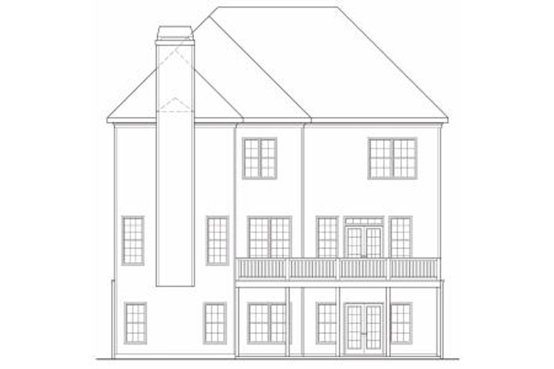 Traditional Exterior - Rear Elevation Plan #419-169 - Houseplans.com