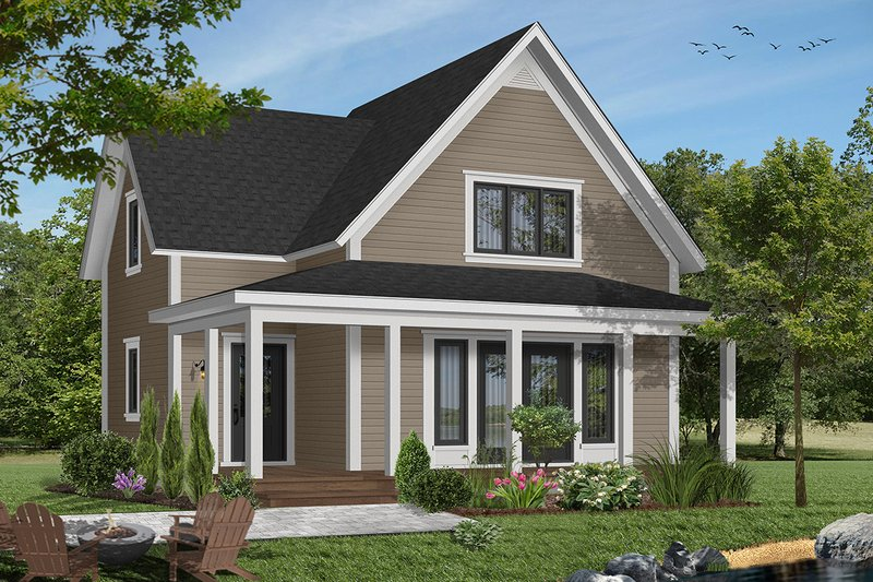 Country Exterior - Front Elevation Plan #23-228