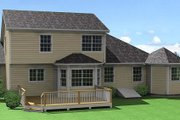 Traditional Style House Plan - 3 Beds 2.5 Baths 1696 Sq/Ft Plan #75-107 Exterior - Rear Elevation