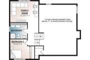 House Plan - 2 Beds 1 Baths 1595 Sq/Ft Plan #23-138 Floor Plan - Lower Floor Plan