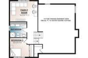 House Plan - 2 Beds 1 Baths 1595 Sq/Ft Plan #23-138 Floor Plan - Lower Floor