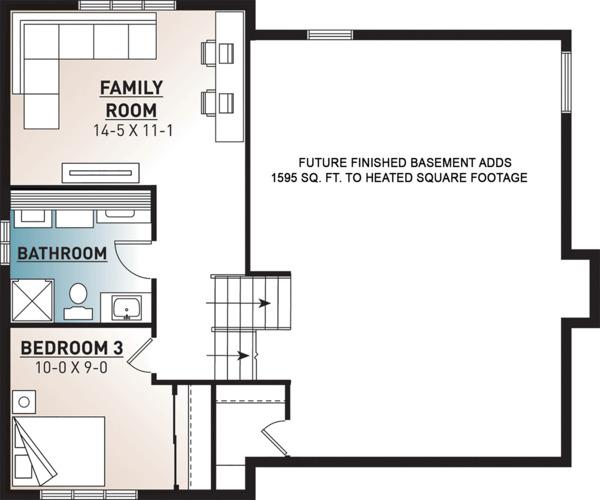 Floor Plan - Lower Floor Plan #23-138