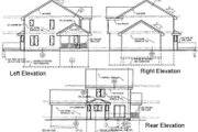 Country Style House Plan - 4 Beds 3 Baths 1638 Sq/Ft Plan #50-115 Exterior - Rear Elevation