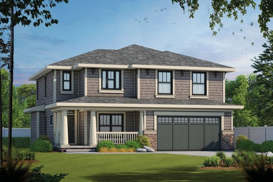 Craftsman Exterior - Front Elevation Plan #20-2289