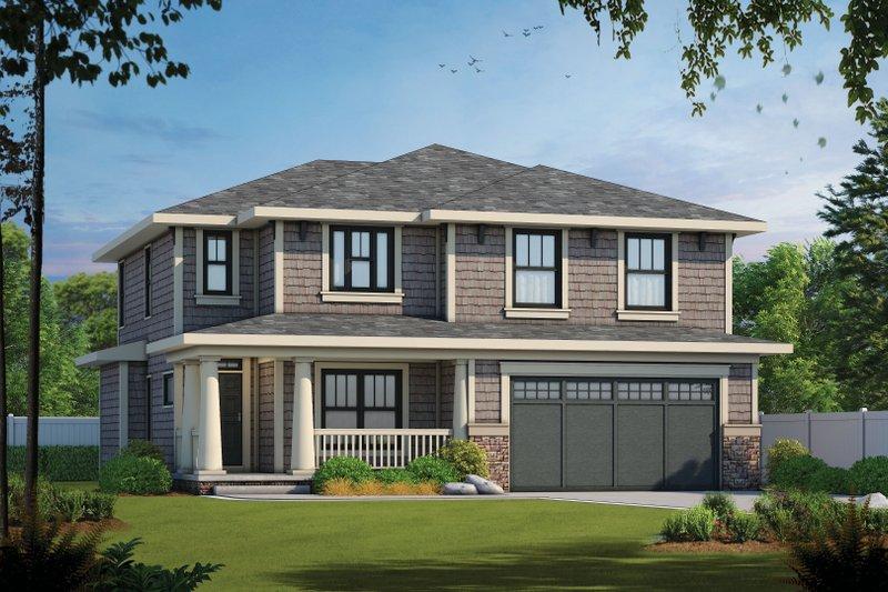 House Plan Design - Craftsman Exterior - Front Elevation Plan #20-2289
