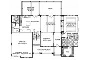 Country Style House Plan - 3 Beds 2.5 Baths 2522 Sq/Ft Plan #927-984 Floor Plan - Main Floor Plan