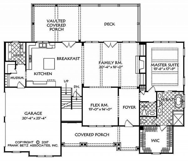 Dream House Plan - Country Floor Plan - Main Floor Plan #927-984