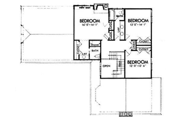 European Floor Plan - Upper Floor Plan #320-144