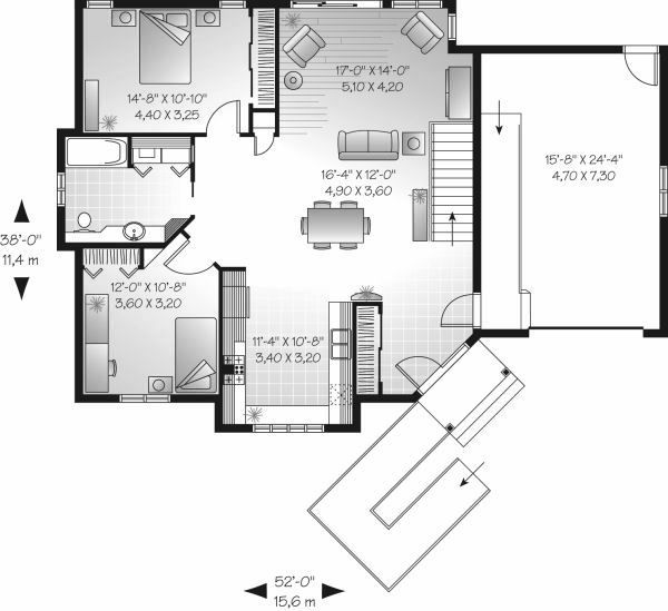 Traditional Floor Plan - Main Floor Plan Plan #23-698