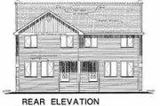 Farmhouse Style House Plan - 3 Beds 3 Baths 2470 Sq/Ft Plan #18-293 Exterior - Rear Elevation