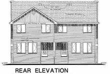 House Blueprint - Farmhouse Exterior - Rear Elevation Plan #18-293