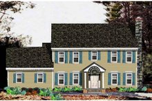 Dream House Plan - Colonial Exterior - Front Elevation Plan #3-213