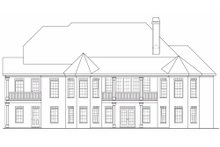 House Design - European Exterior - Rear Elevation Plan #419-163