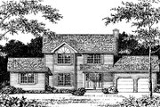 Colonial Style House Plan - 5 Beds 3.5 Baths 2583 Sq/Ft Plan #12-215 Exterior - Front Elevation