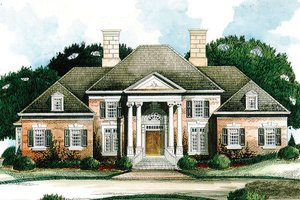 Colonial Exterior - Front Elevation Plan #429-8